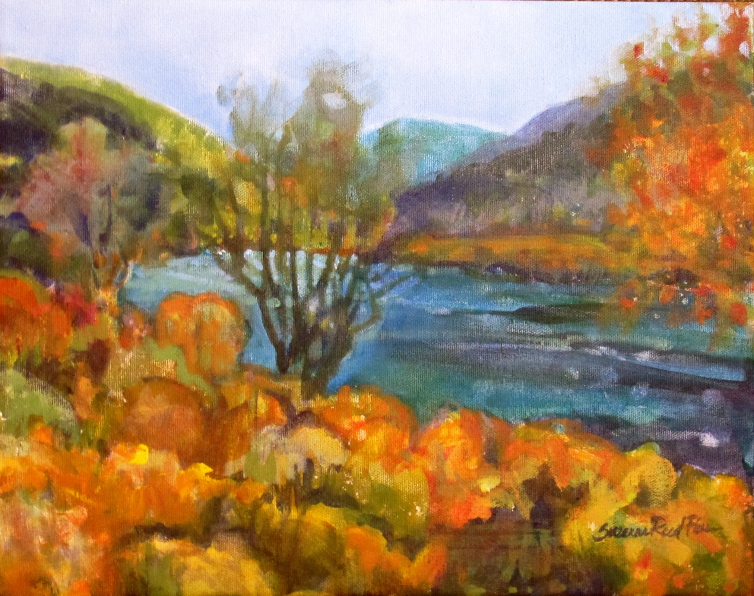 Cottonwoods on the River, Rio Grande