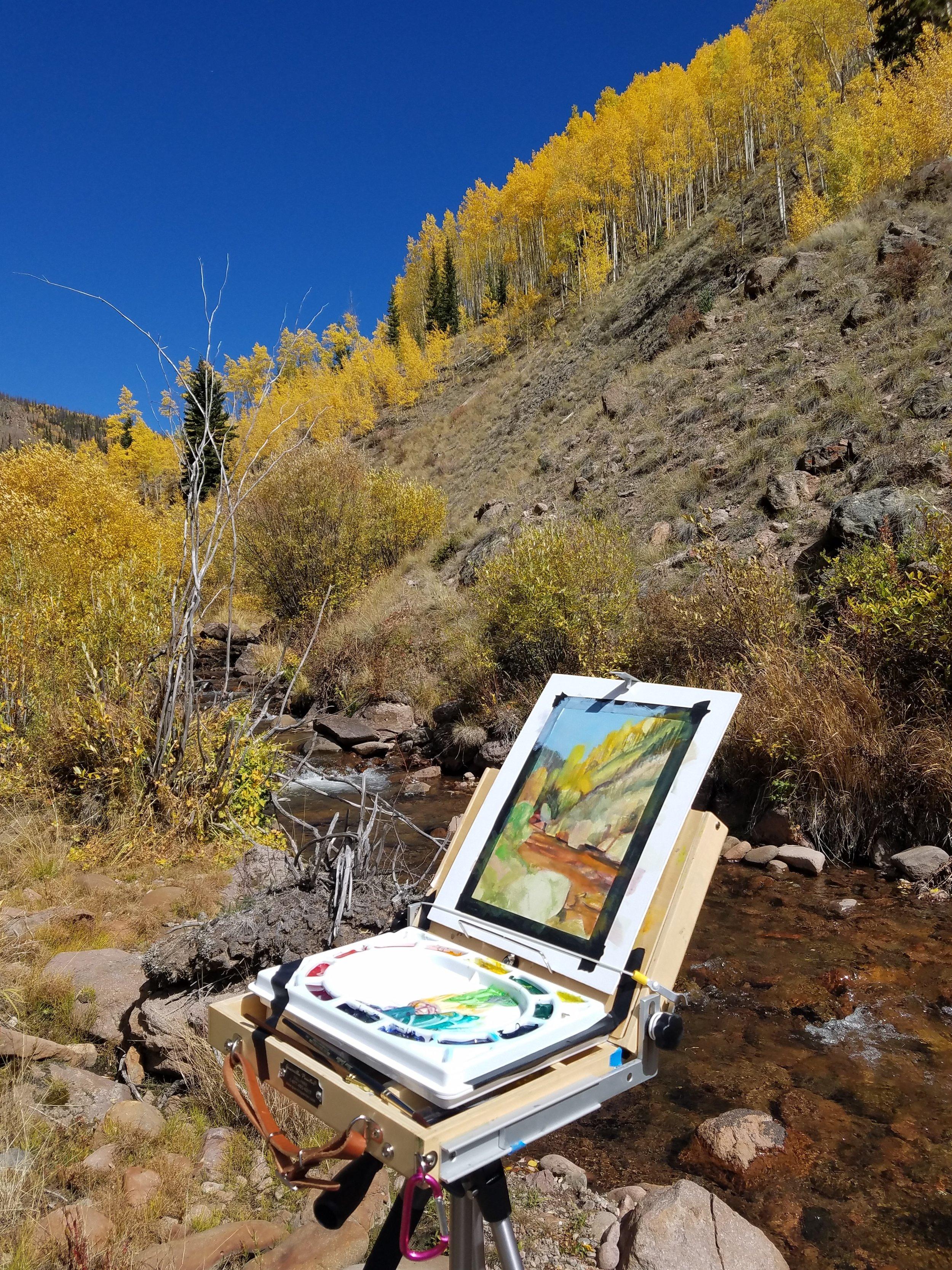 Work in progress, Upper San Juan Mountains, Colorado
