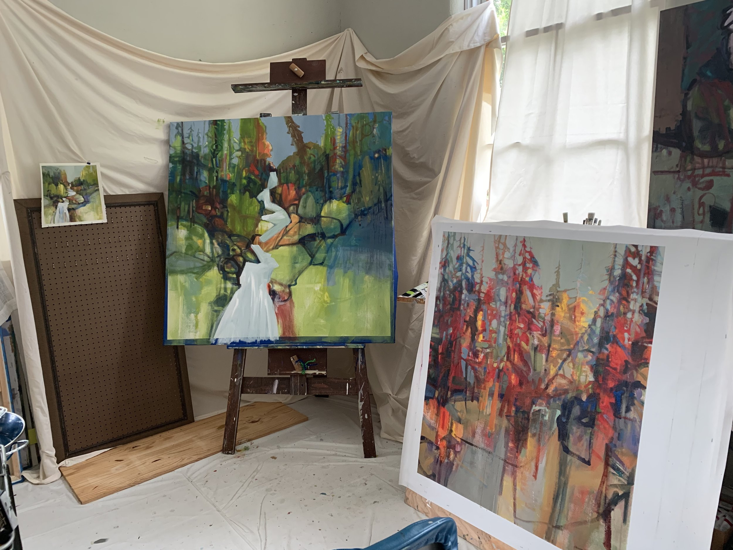 View of my studio with Works in progress