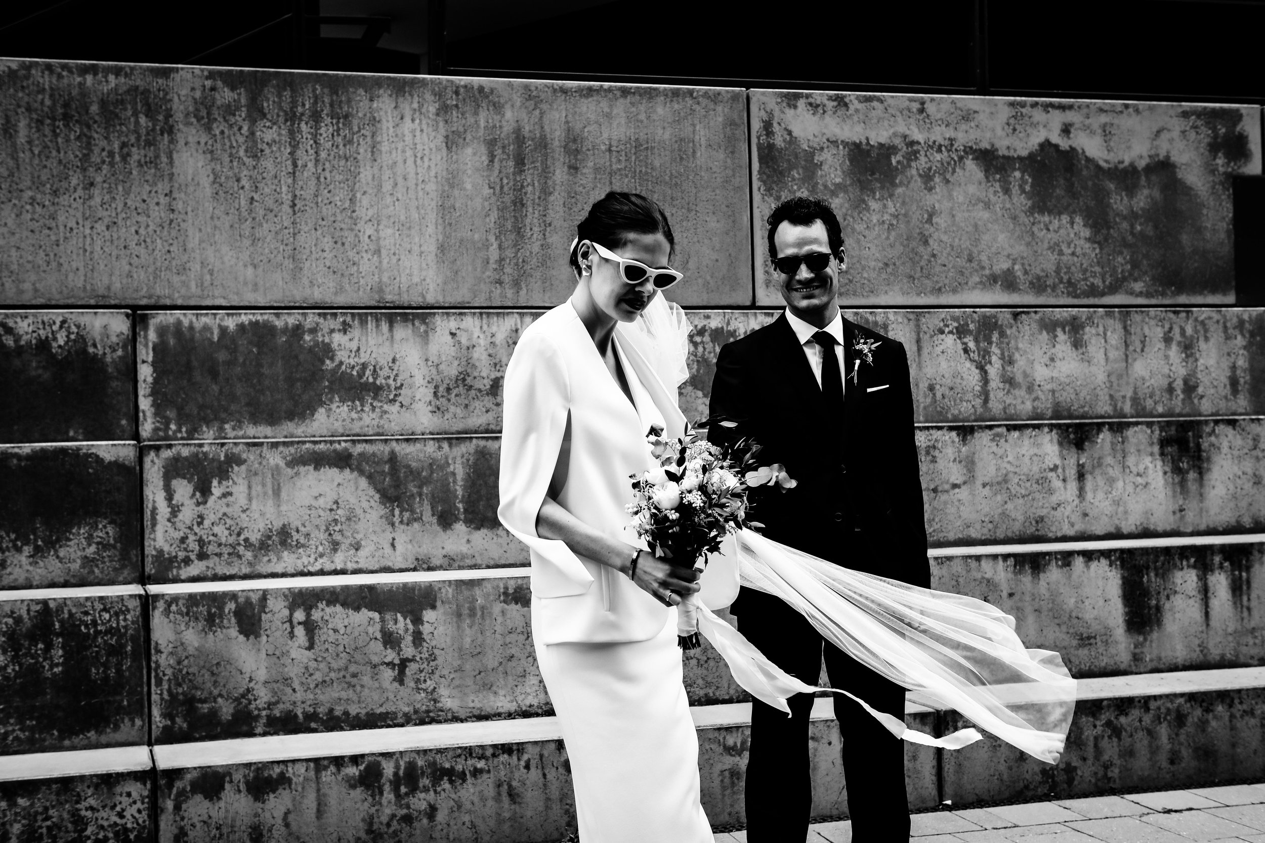 Mela & Arno - Getting Ready im SIR Nikolai / HamburgDress by Solace LondonSunglasses & Shoes by CELINE