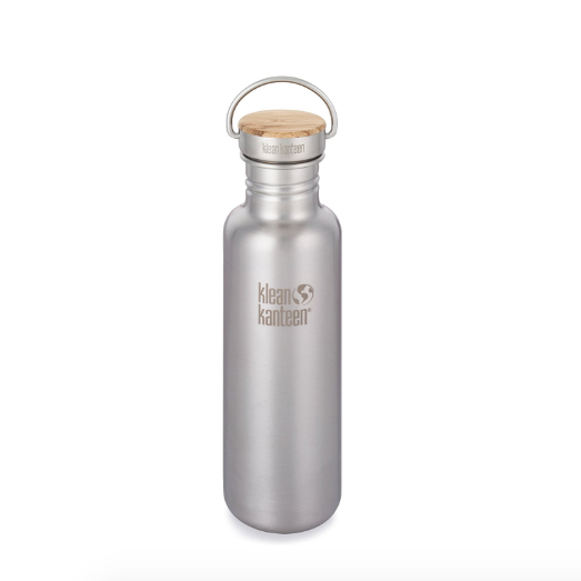 Klean Kanteen Plastic Free Water Bottle with Bamboo Lid