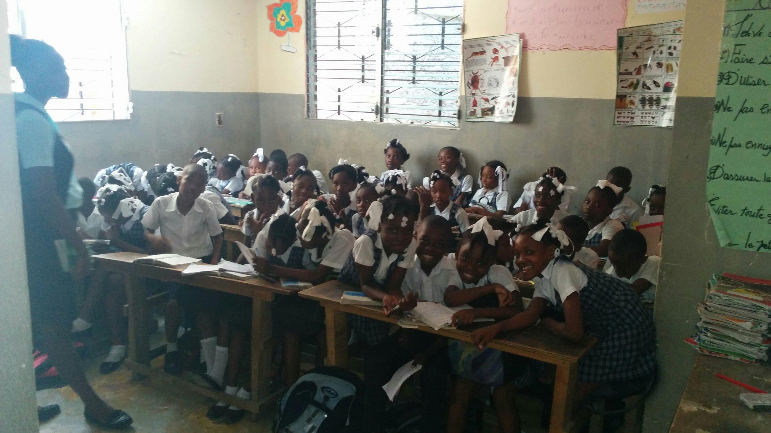 Haitain students at sopudep