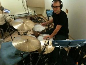 "Niels Myrner in studio for ""Our Song"""