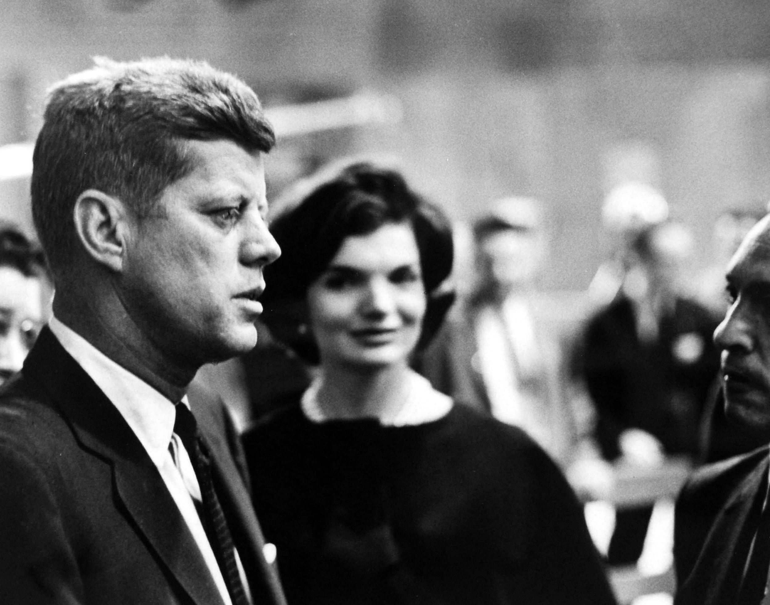 Massachusetts Senator, John F. Kennedy with his wife, Jacqueline Kennedy, prior to televised presidential debate