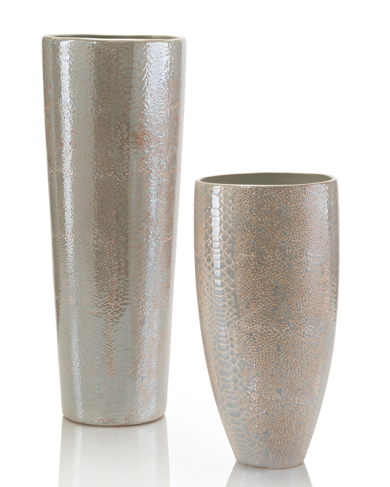 Cream Python Vases