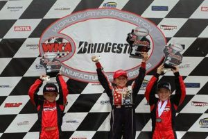 Ben Maier doubled up in the Briggs 206 Cadet category (Photo: WKA)