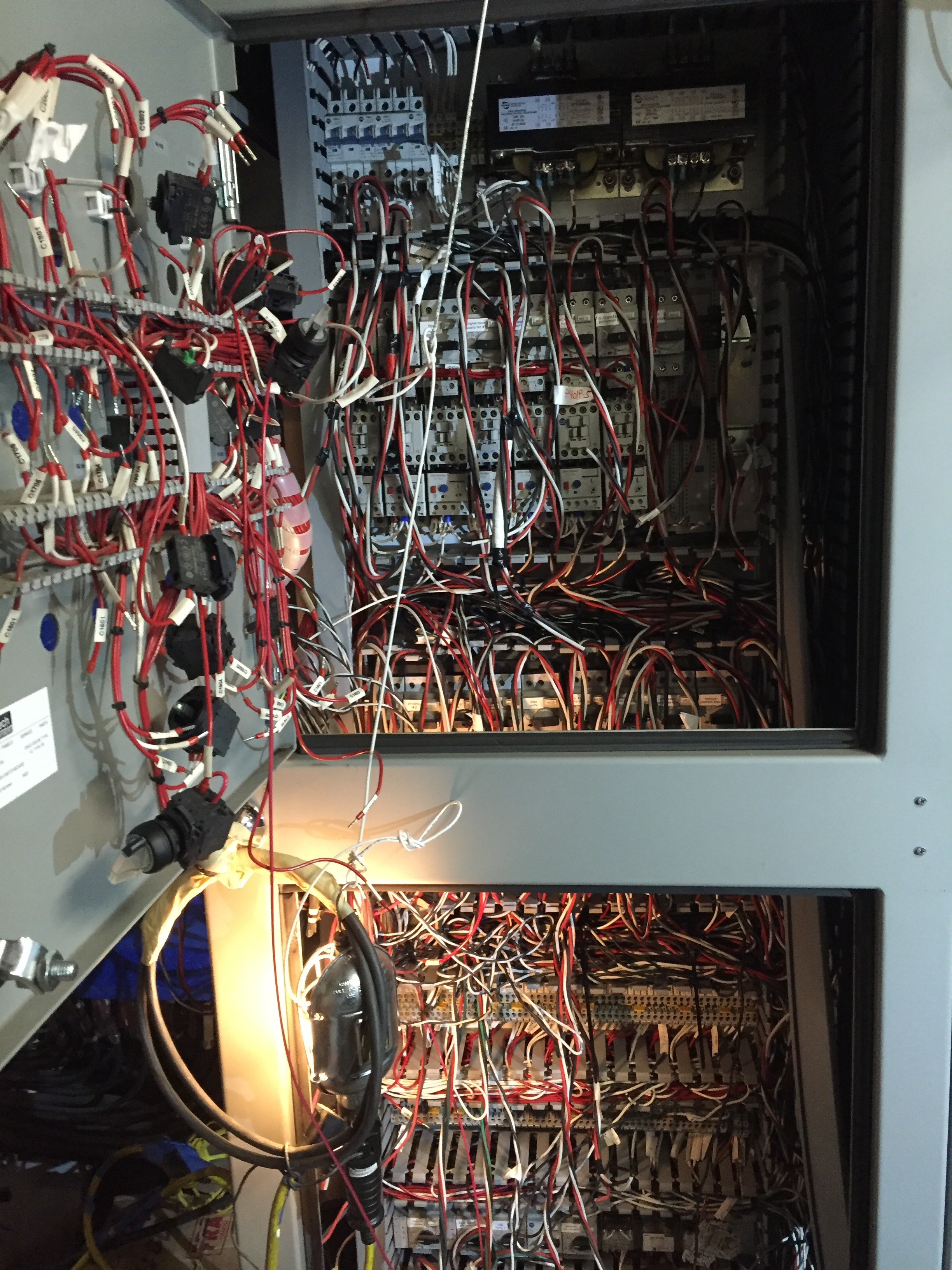 This is a bad example of a marine Panel.  Try to avoid messy installs.  They create lots of problems in the future.