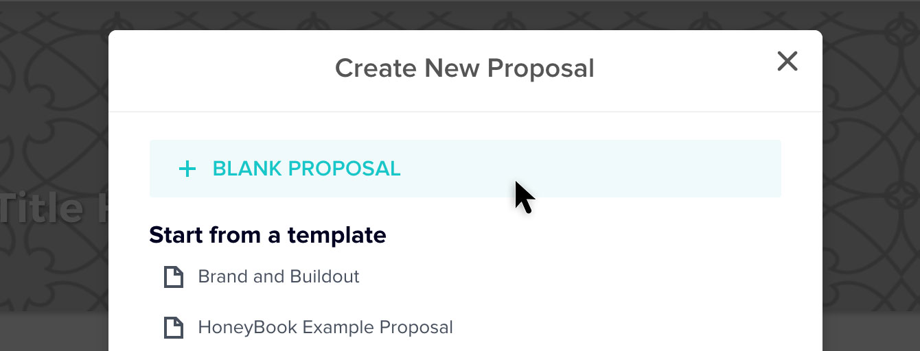 "Click ""Blank Proposal."""