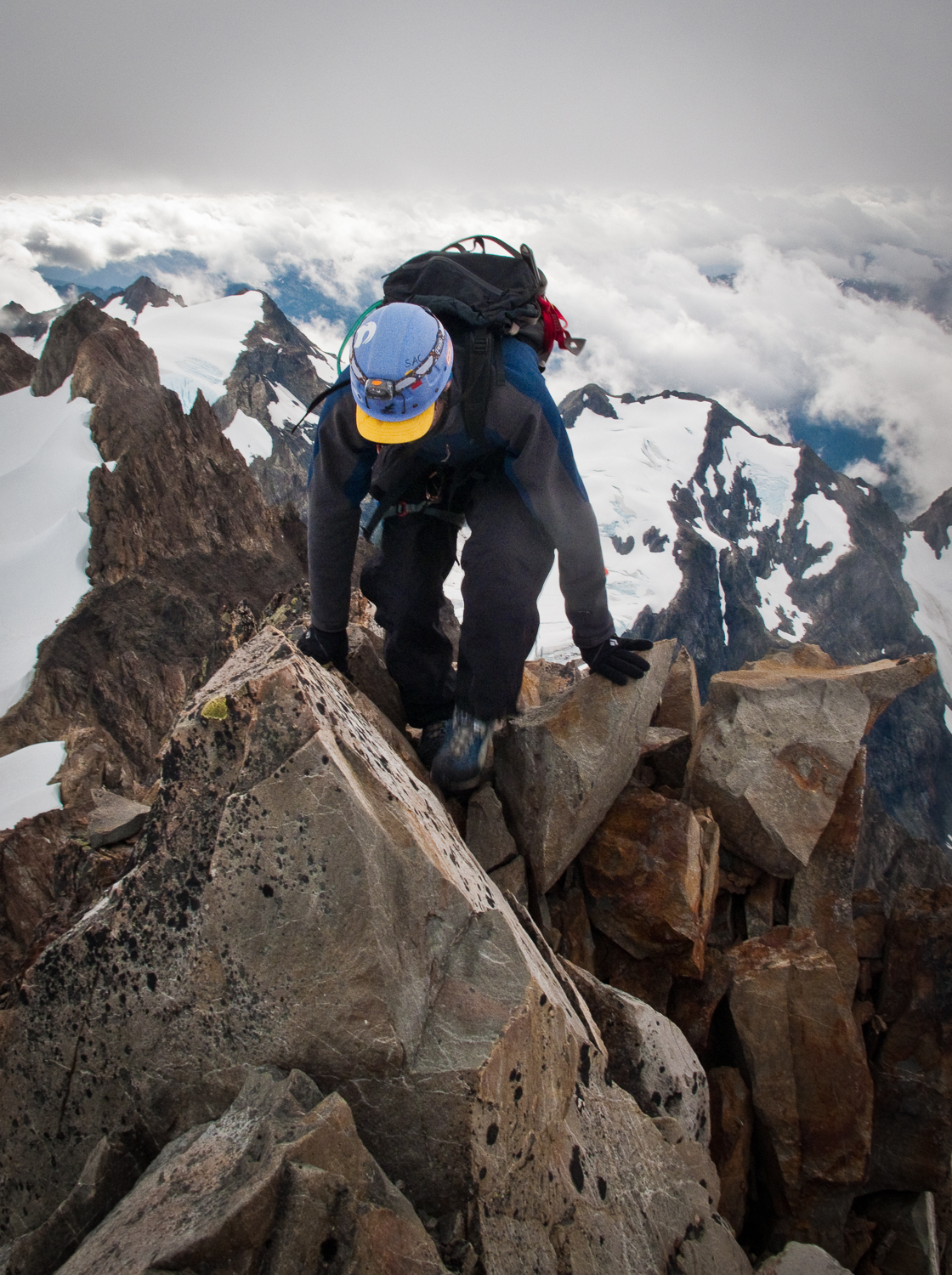 touching the summit on Mount Olympus