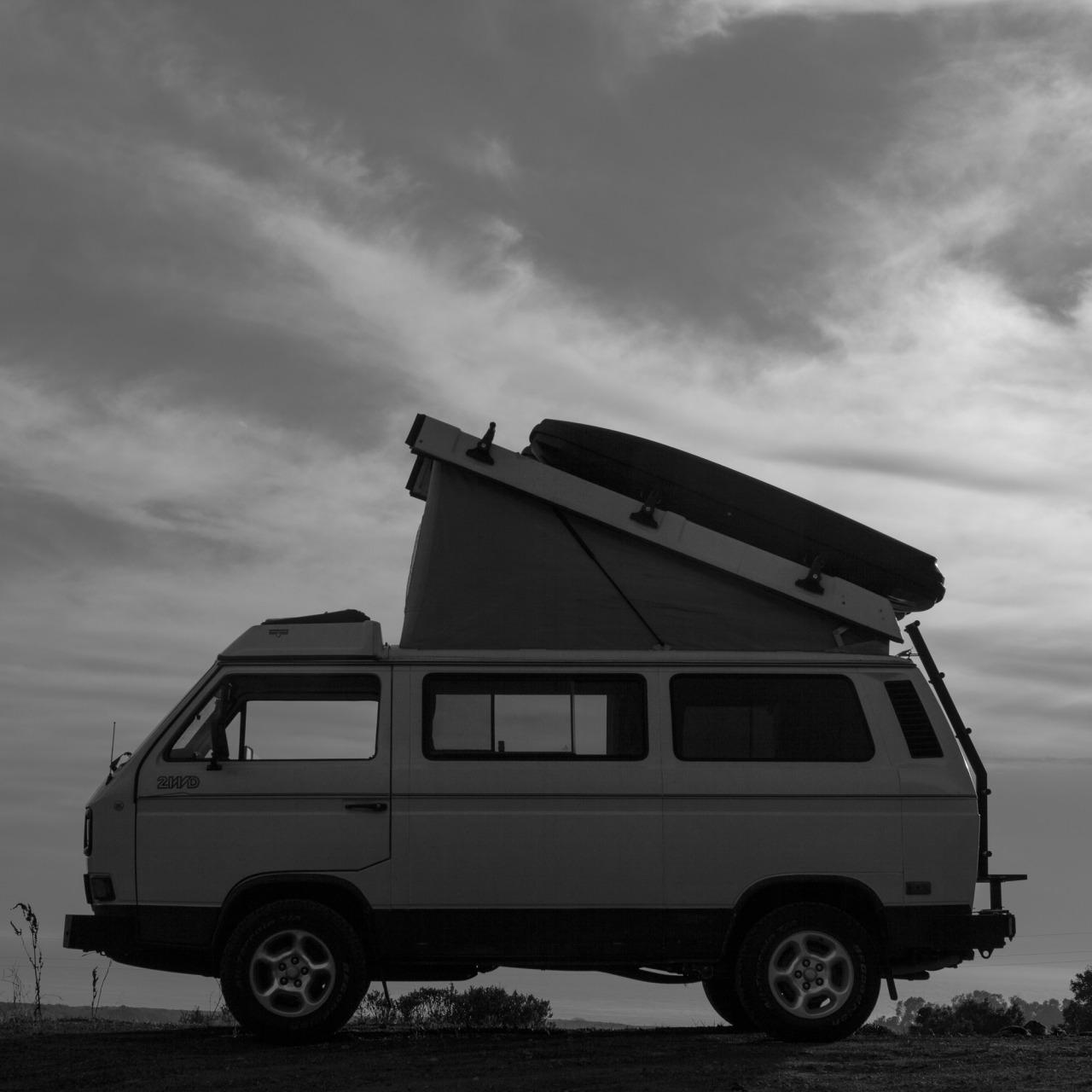 My Volkswagen Van parked just outside of Big Sur