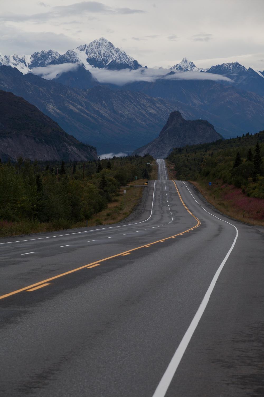 My first view of the Chugach Range coming into mainland Alaska