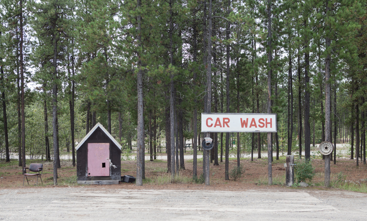 A rustic carwash at the highway 37 junction of the Alaska Highway
