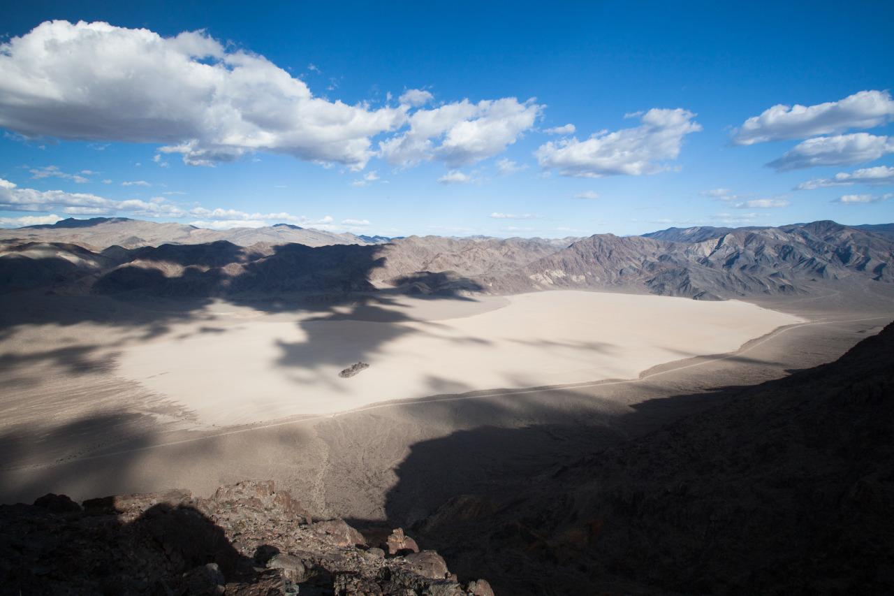 The Racetrack in Death Valley, as taken from Ubehebe Peak