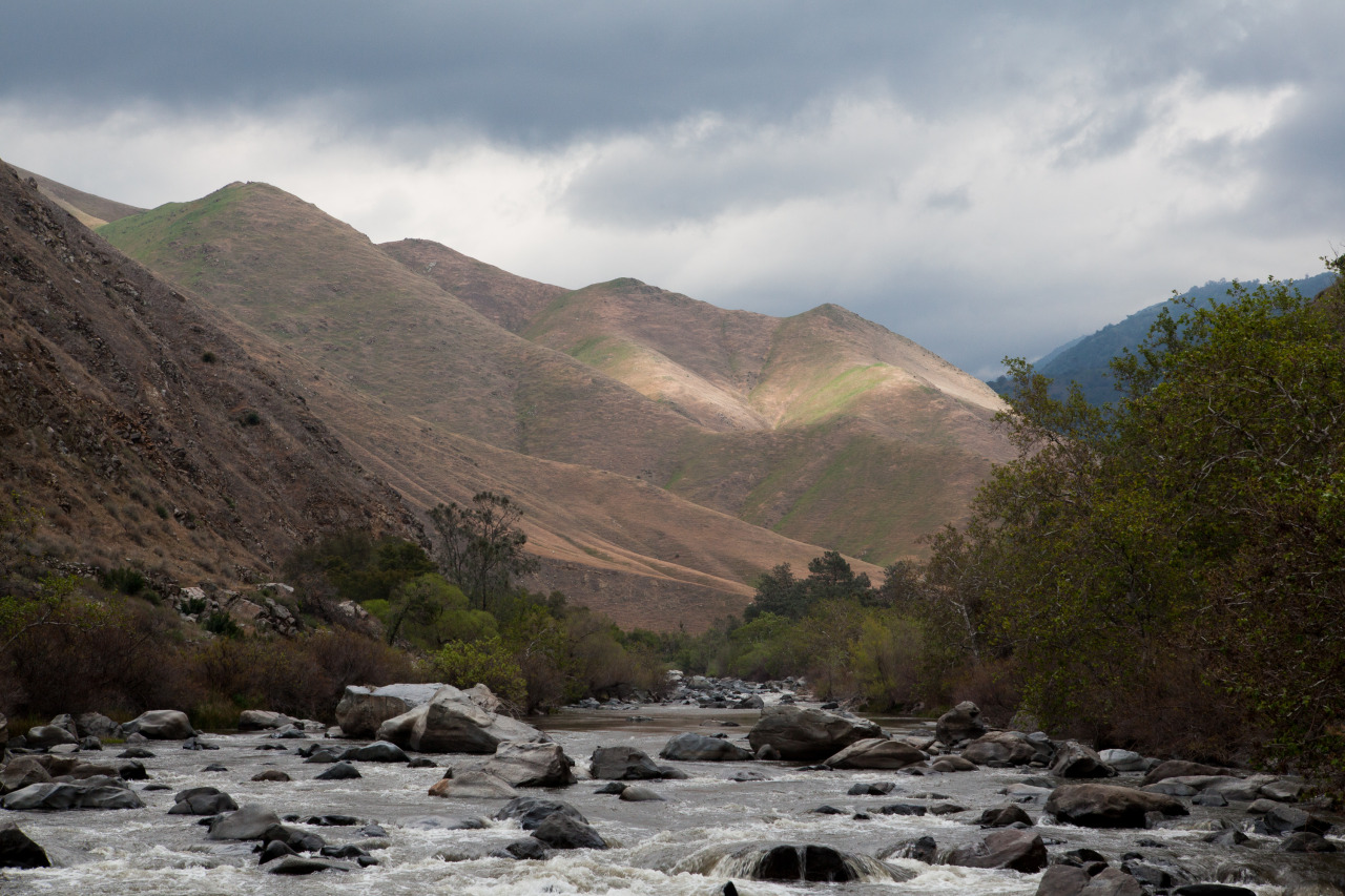 Kern River flowing through a beautiful valley