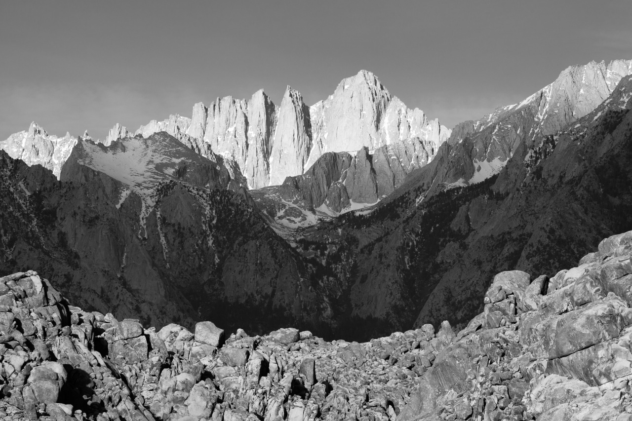 Mount Whitney, as seen from the Alabama Hills