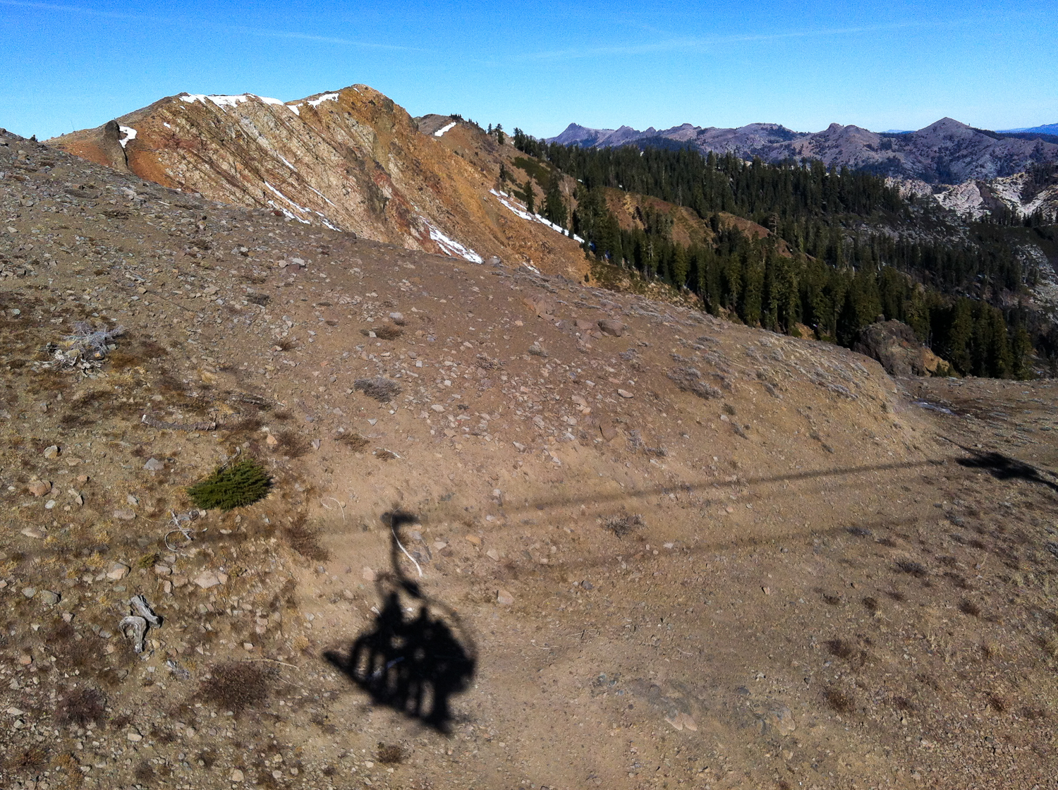 Squaw valley ski lift with no snow travel