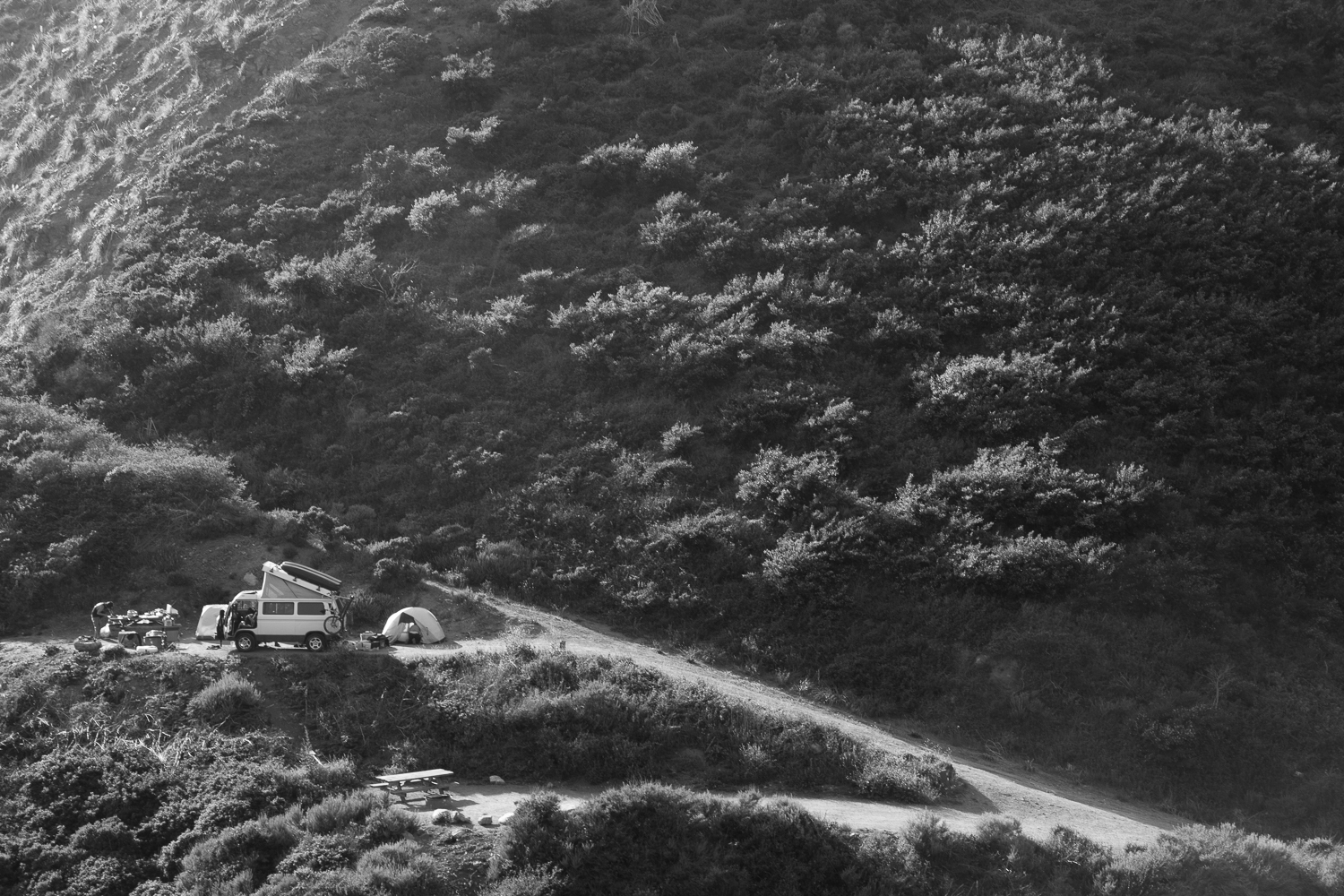 Camped at Lime Kiln camp in Big Sur
