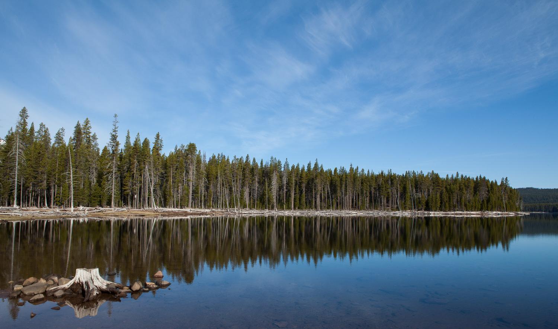 Fourmile Lake in Oregon close to Mt Mcloughlin