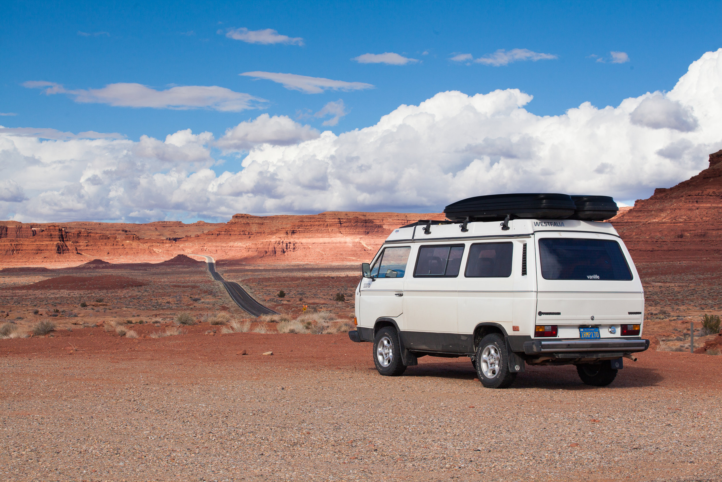 The open road and my Volkswagen Vanagon in Southern Utah