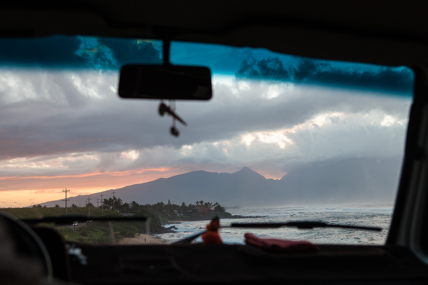 Maui's north shore as seen from my van, Donnie