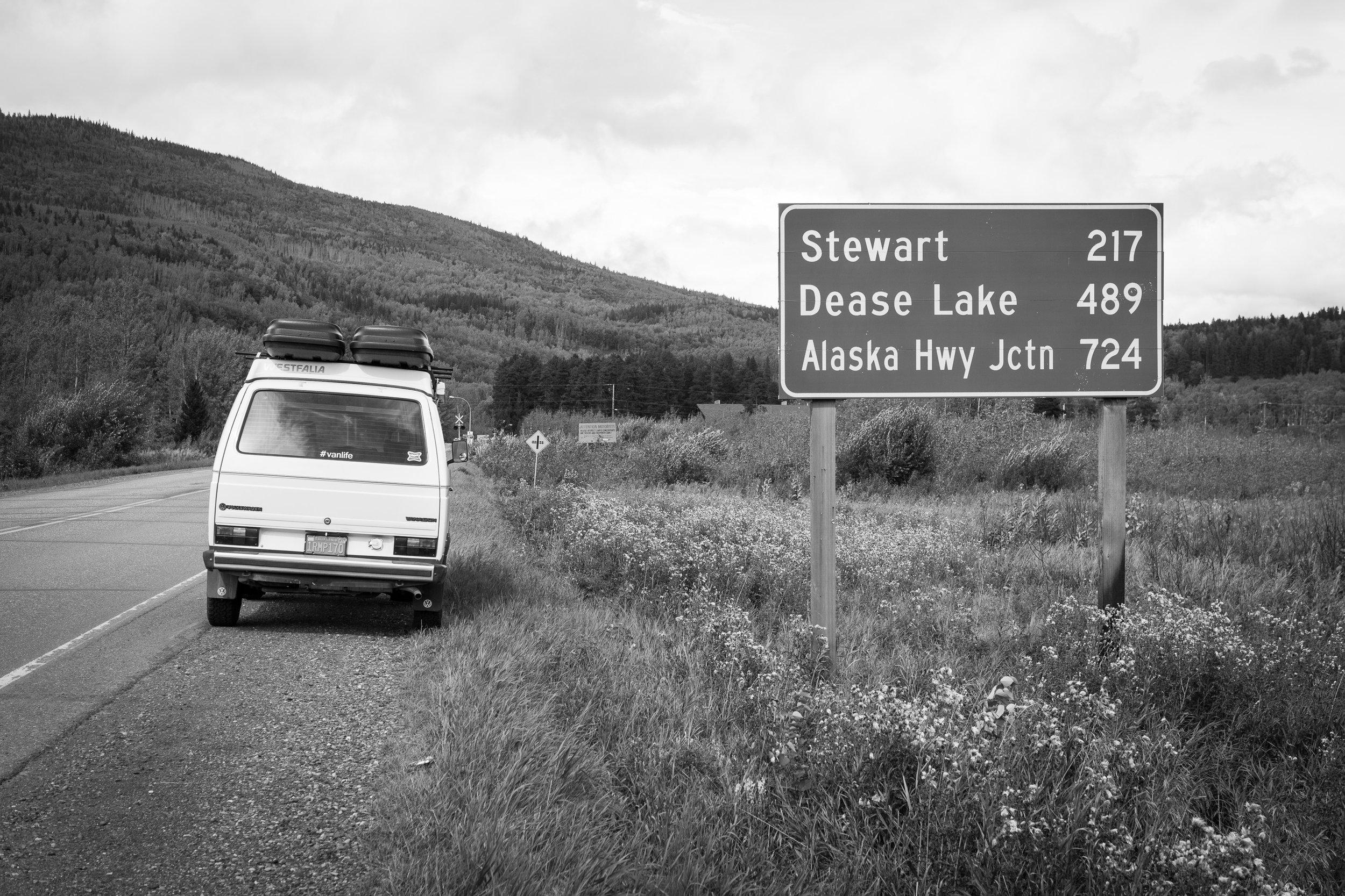 Volkswagen Vanagon on the Cassiar Highway