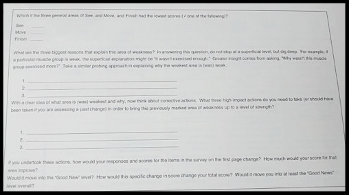 Change Assessment Tool (Cont.)