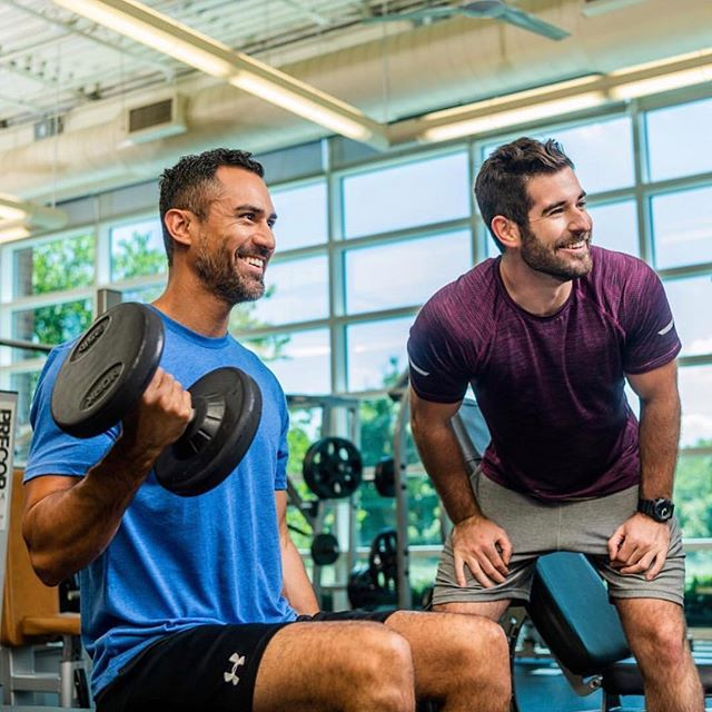 Start your Monday off like Jonny & Alex with a great workout at @ymca Be sure to take a pic and send it to us if you catch their faces anywhere at the Y!