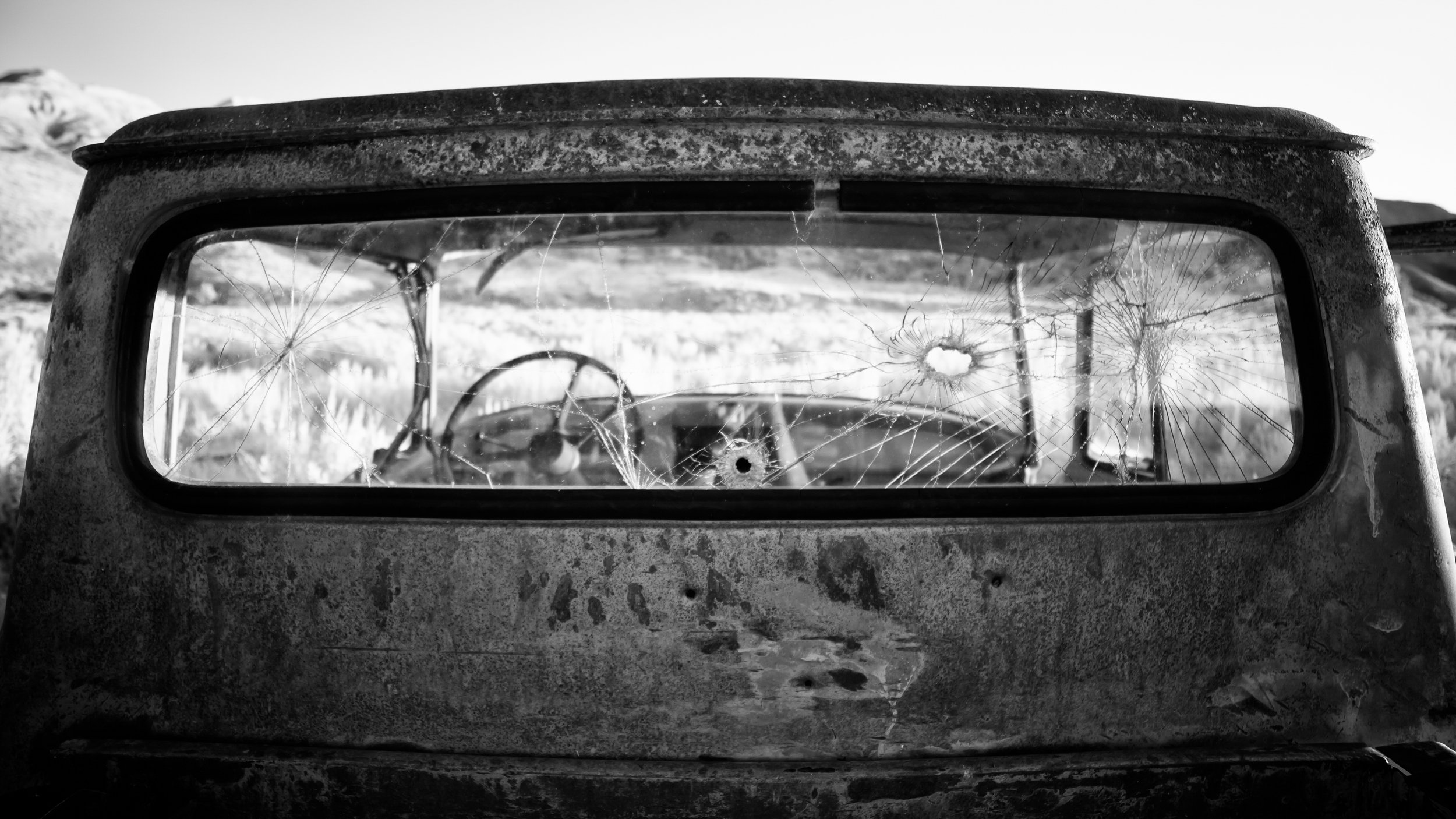 Old Truck at Airstrip in Infrared