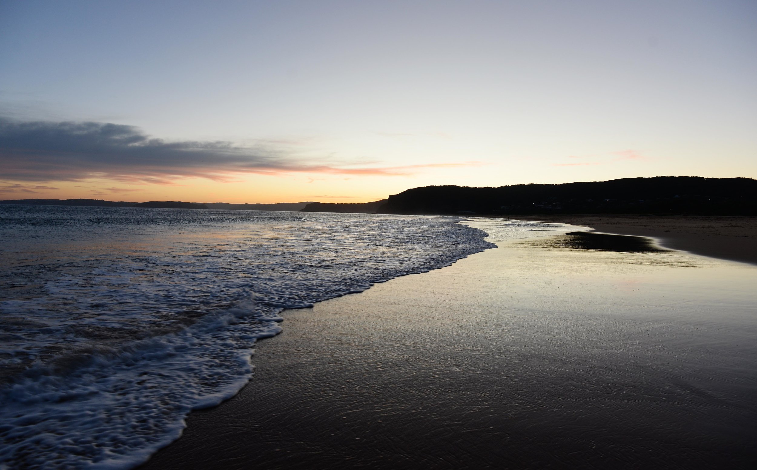 putty beach bouddi national park sunset kilcare