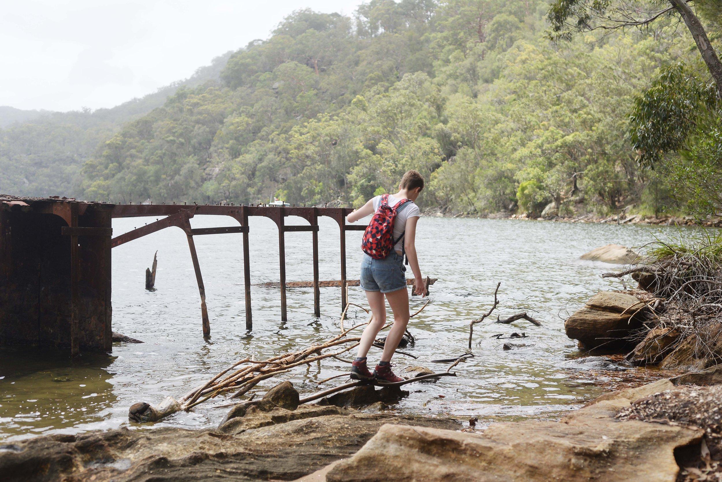 girl hiking sydney