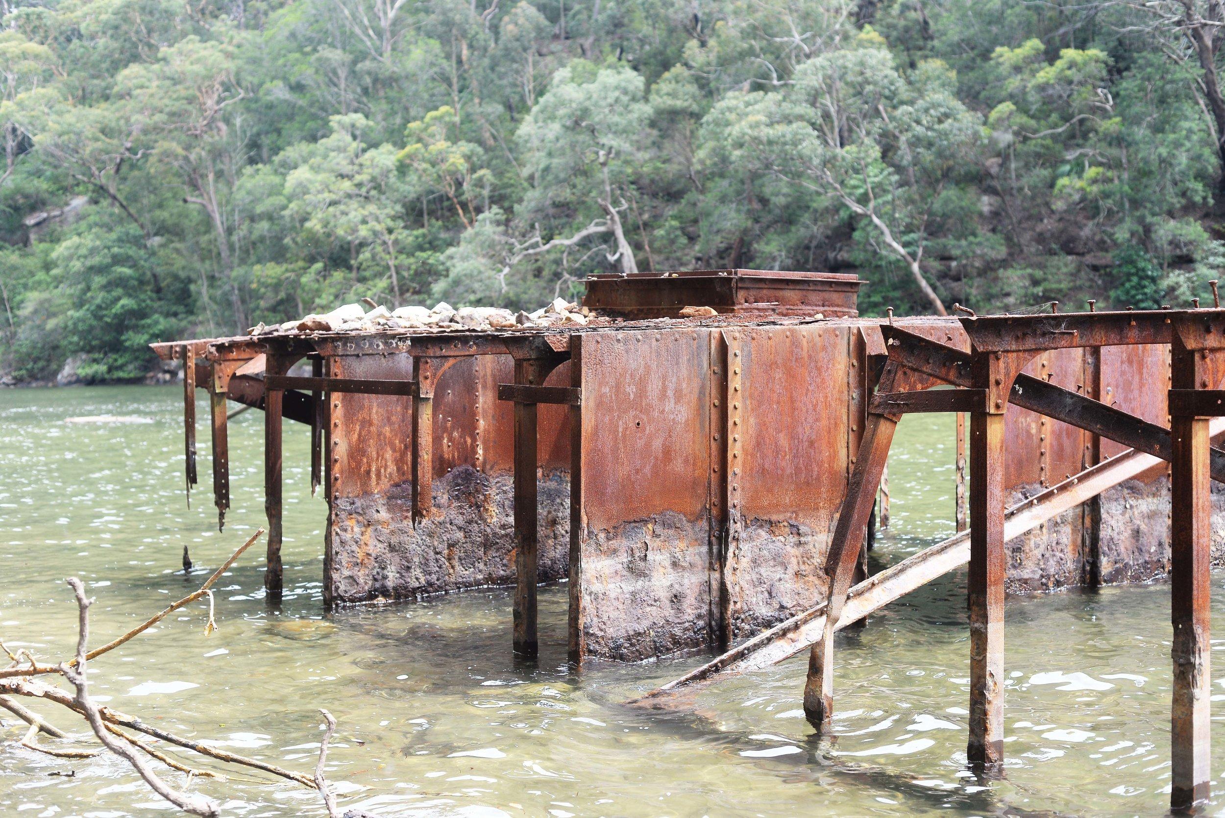 metal ruin kuringgai chase national park