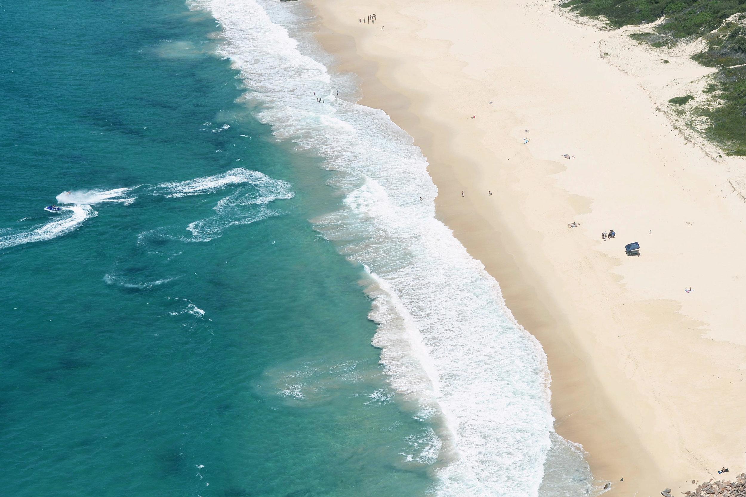 aerial view beach port stephens