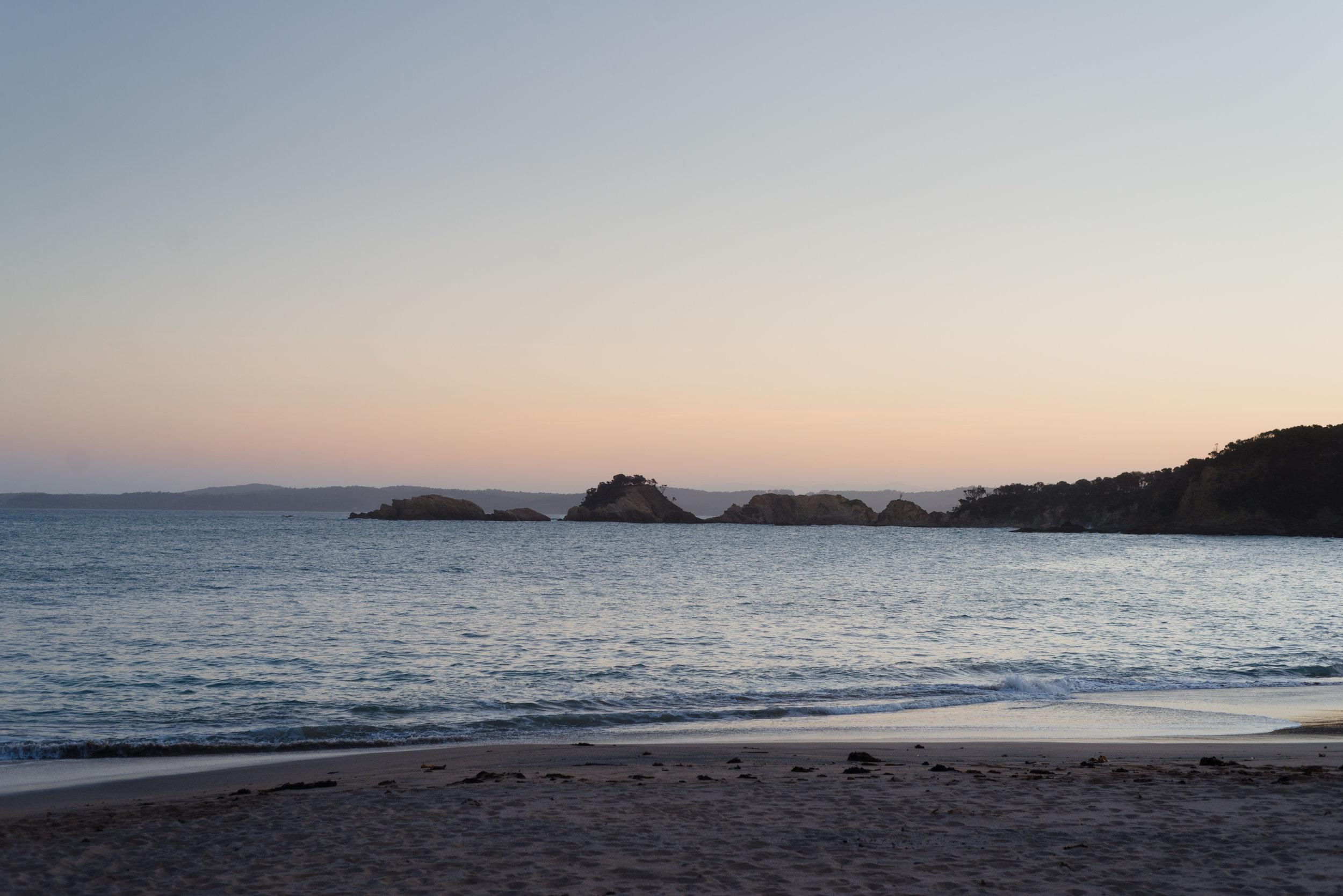 sunset at north head beach nsw
