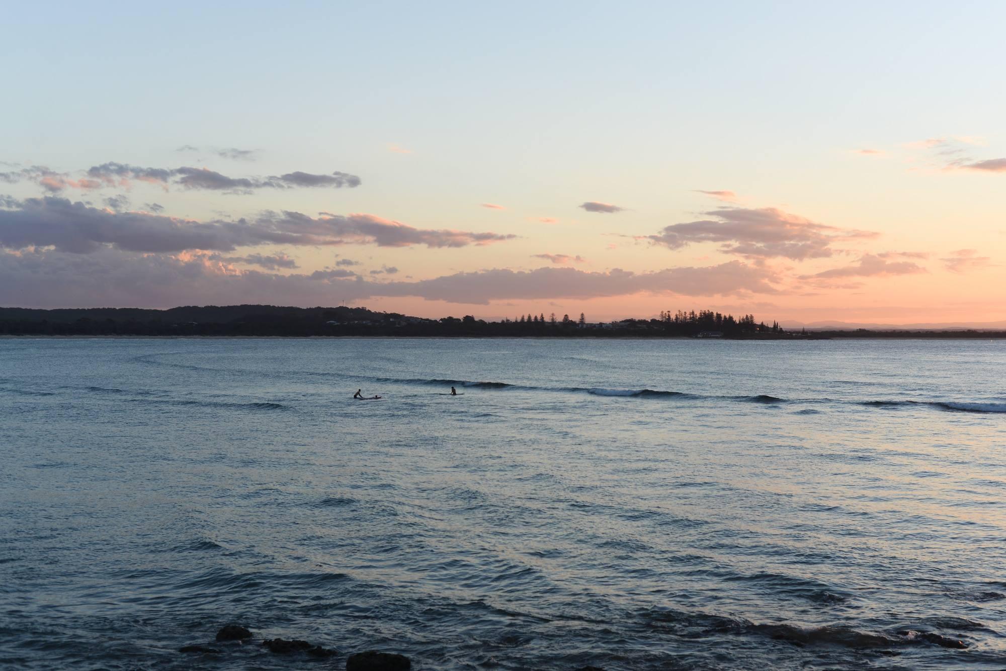 south west rocks nsw sunset