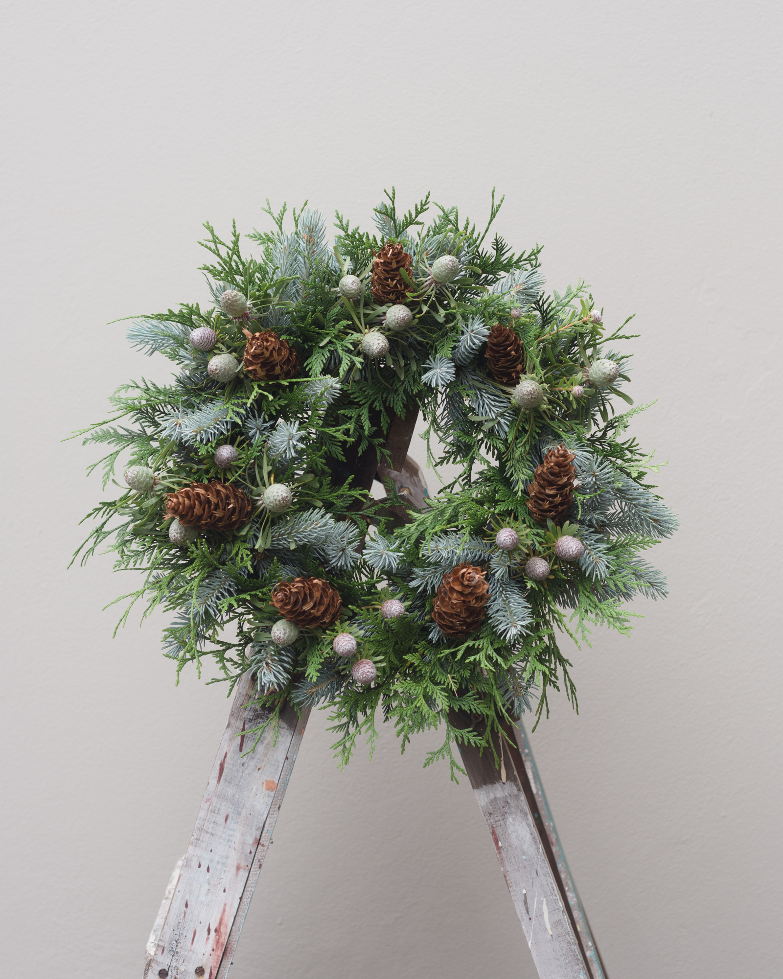 pine cone floral wreath