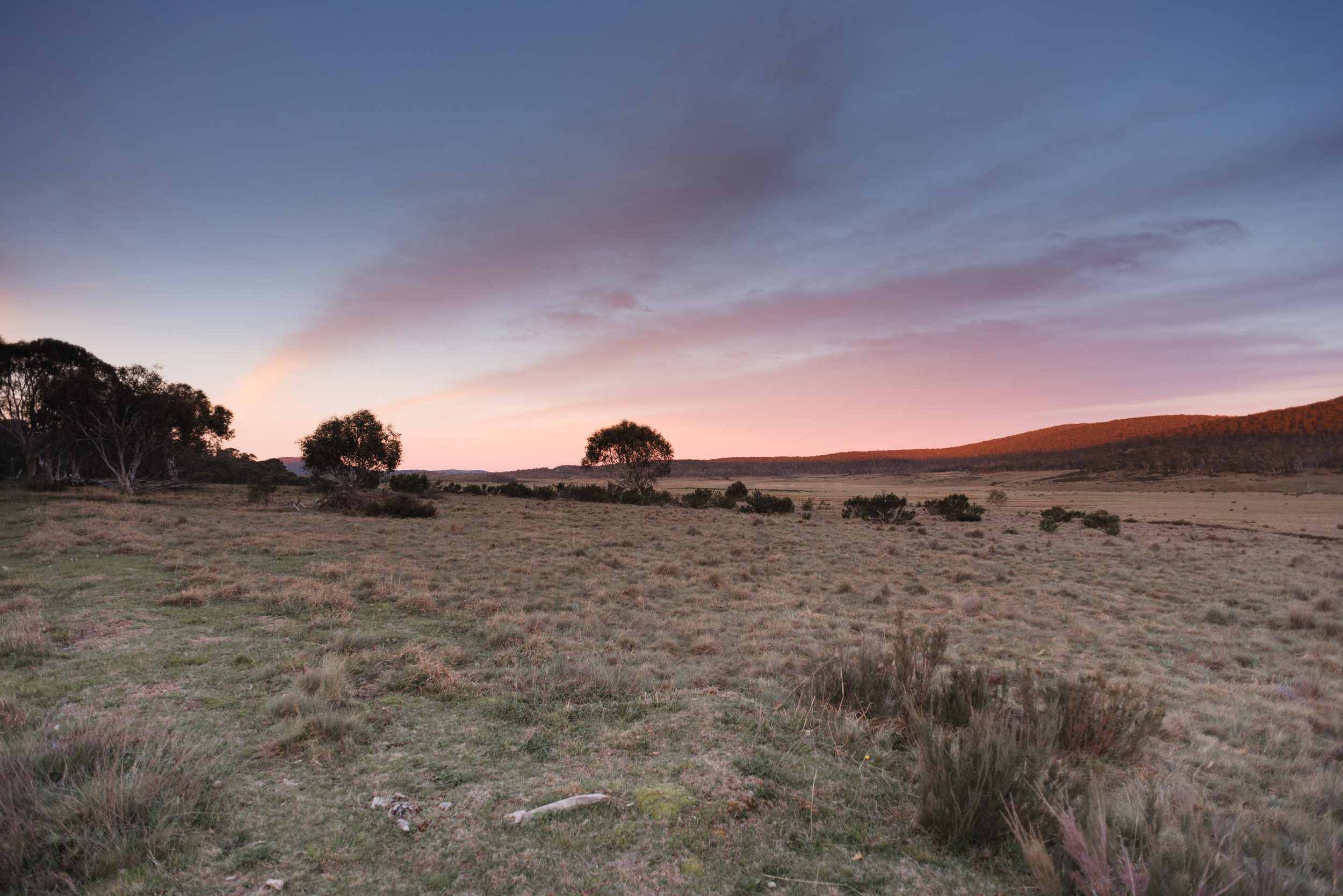 long plain road nsw sunset