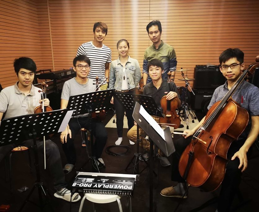 Recording session with Composer Wong Wai-Yi (2018)