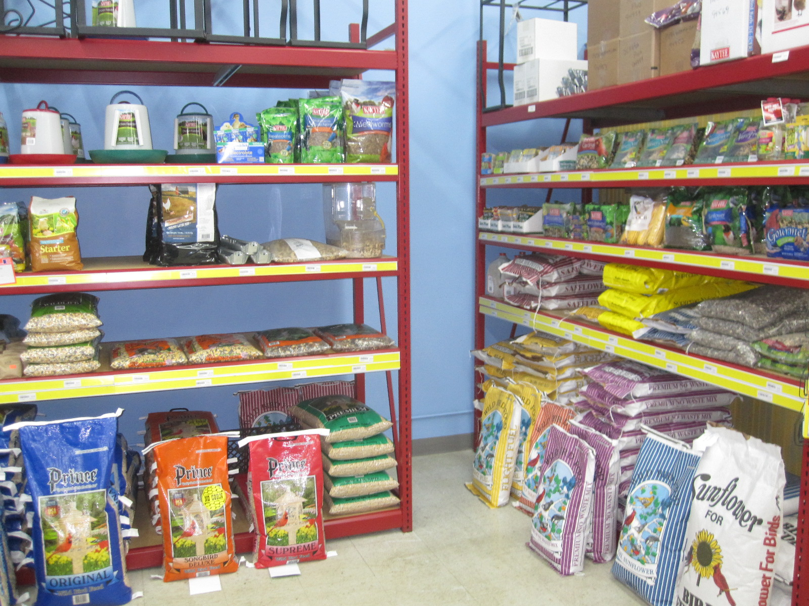Premium pet foods such as Fromm, Evangers, Orijan, Real Meat, and many others. If we don't stock it chances are we can get it for you.