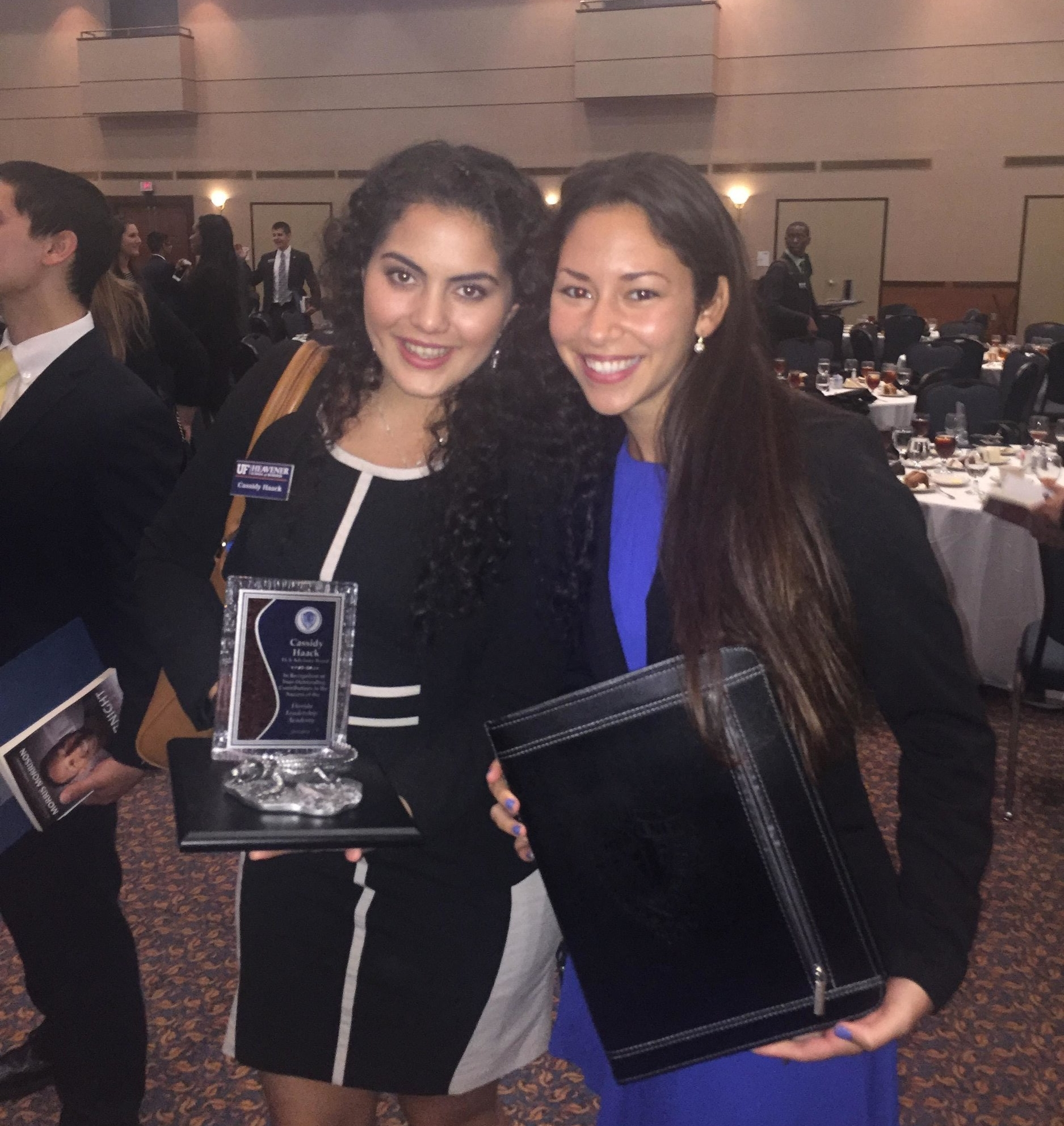 Cassidy and Jackie at the FLA induction ceremony in 2016.