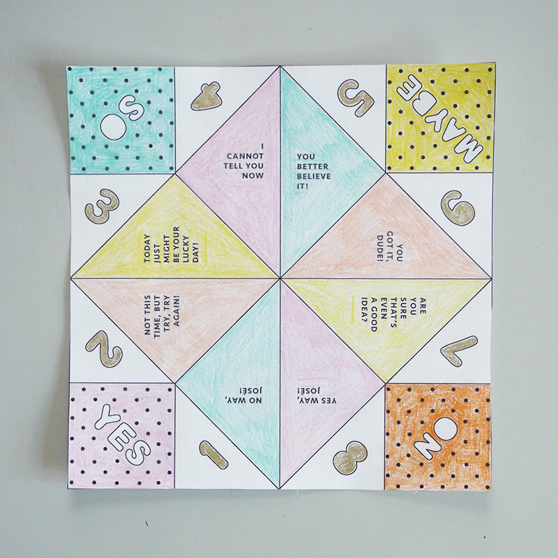 Free Printable For Fortune Tellers Fair Play Projects