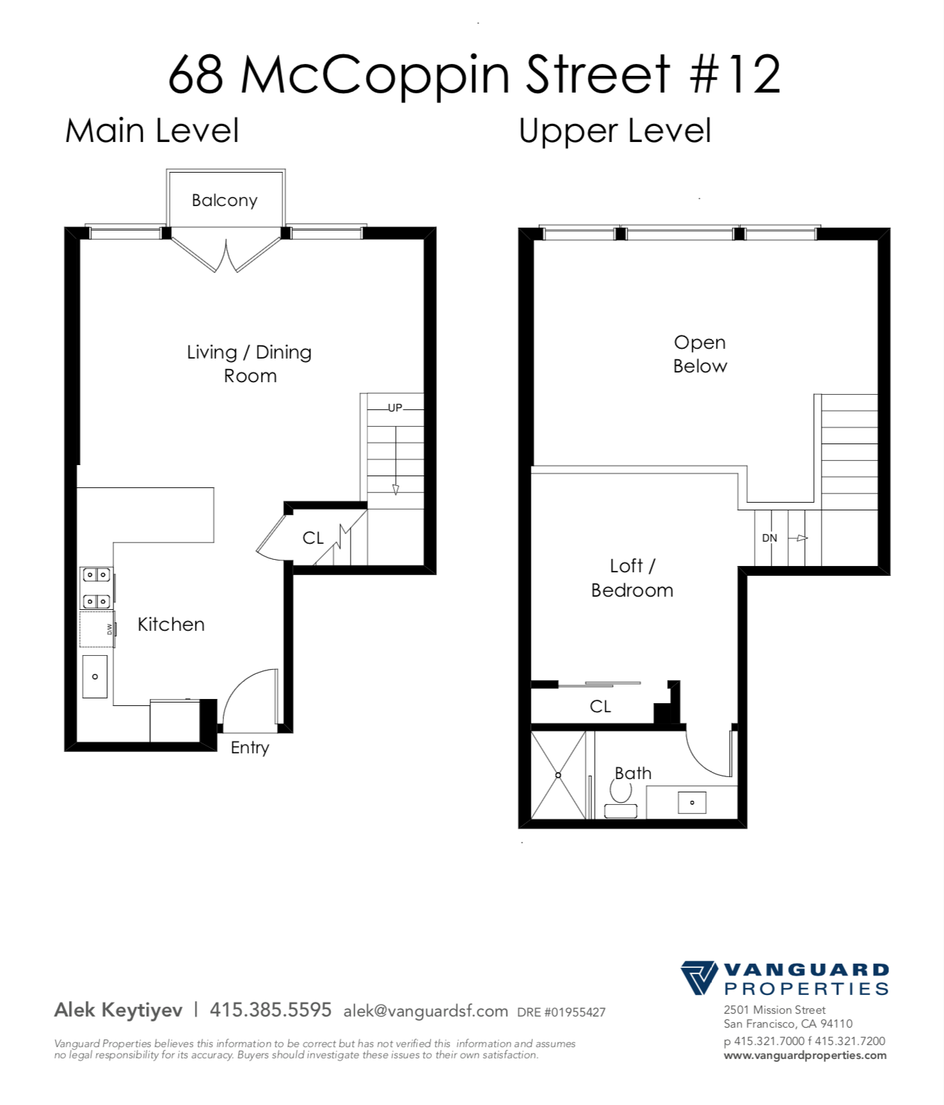 Floor Plan of Home for Sale at 68 McCoppin #12