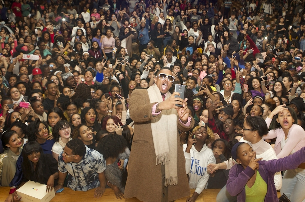 Nick Cannon Serves as Get Schooled's Celebrity Principal for the Day in NYC