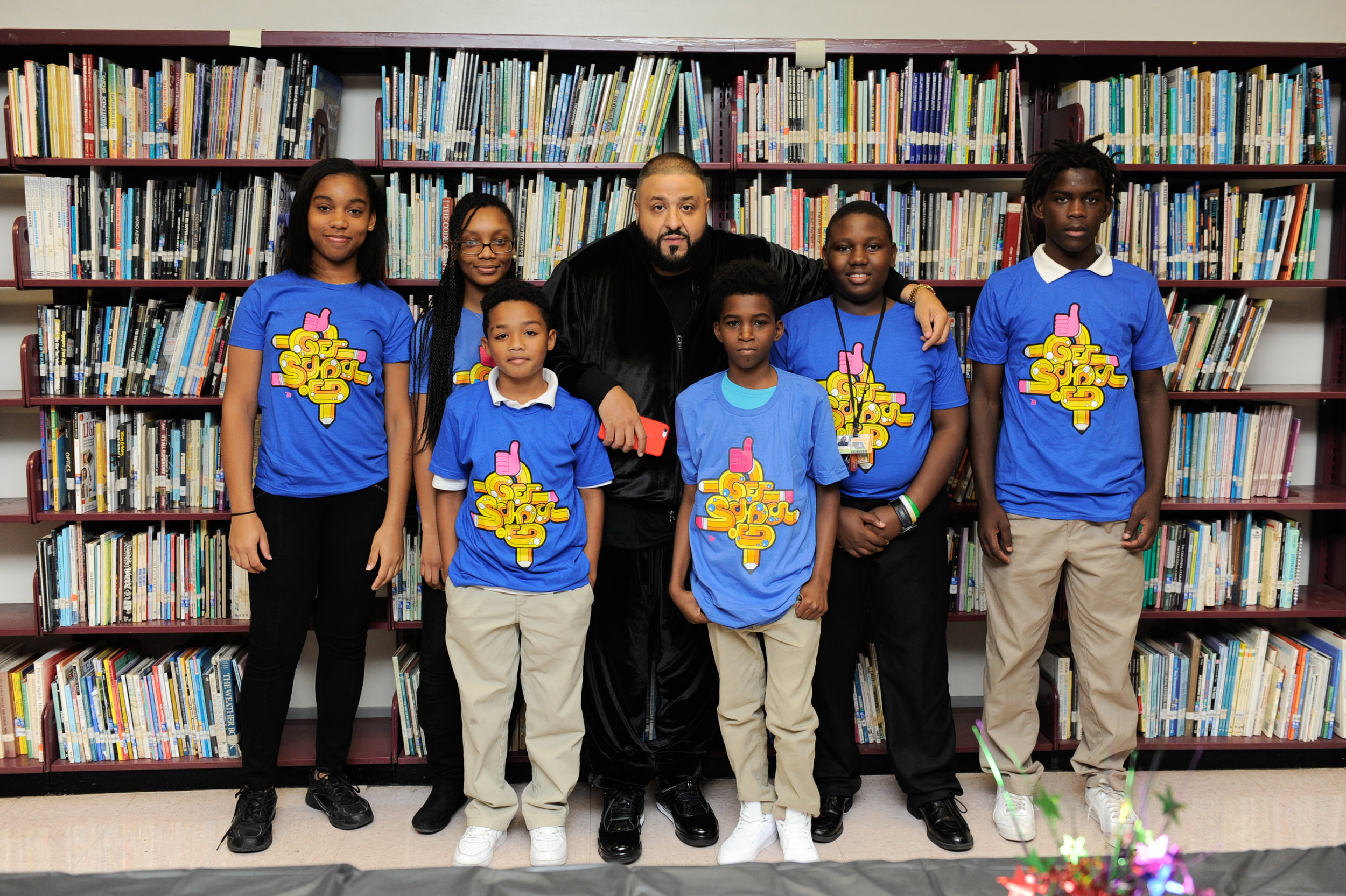 DJ Khaled Serves as Get Schooled Celebrity Principal for the Day in Miami