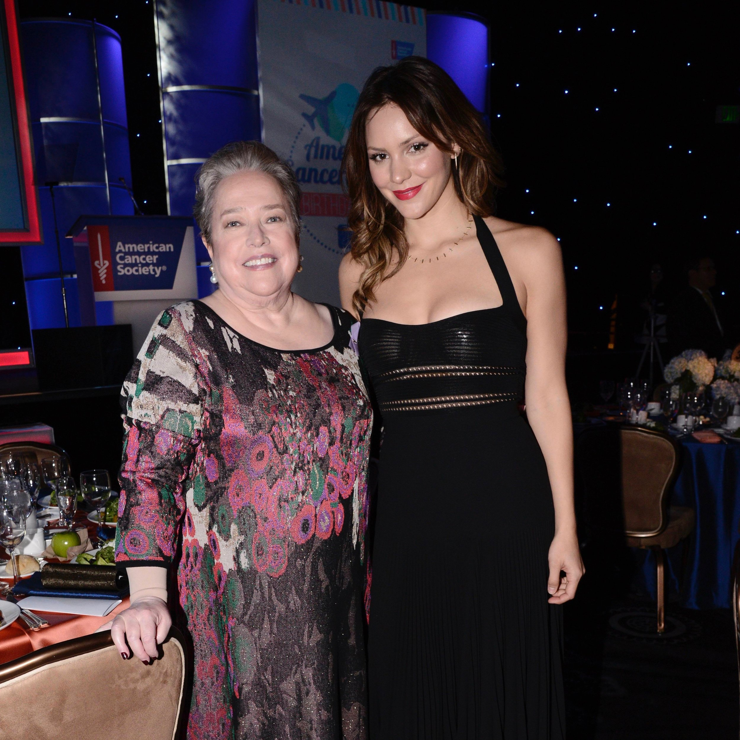 Kathy Bates & Katherine McPhee at Birthday Ball