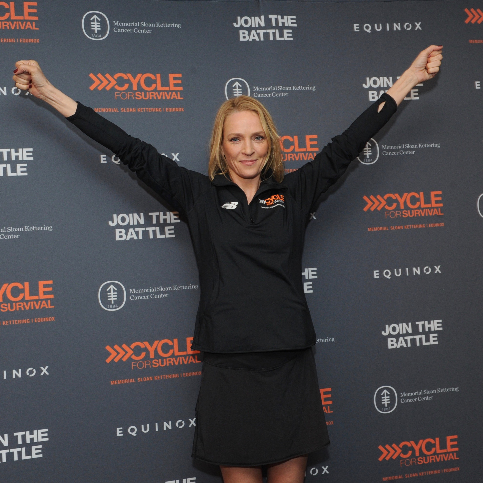 Uma Thurman at Cycle for Survival