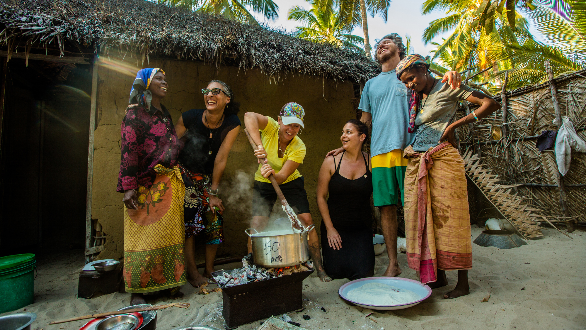 Food Network star Cat Cora in Mozambique with CARE