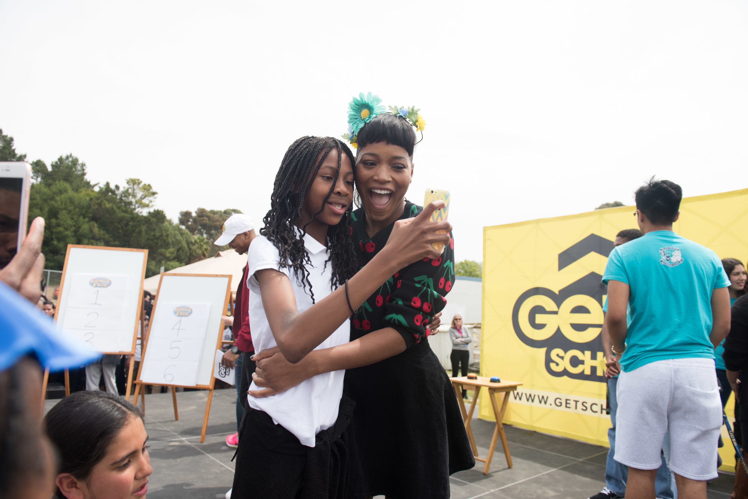 Keke Palmer serves as Celebrity Principal for the Day at a high school in Vallejo, CA