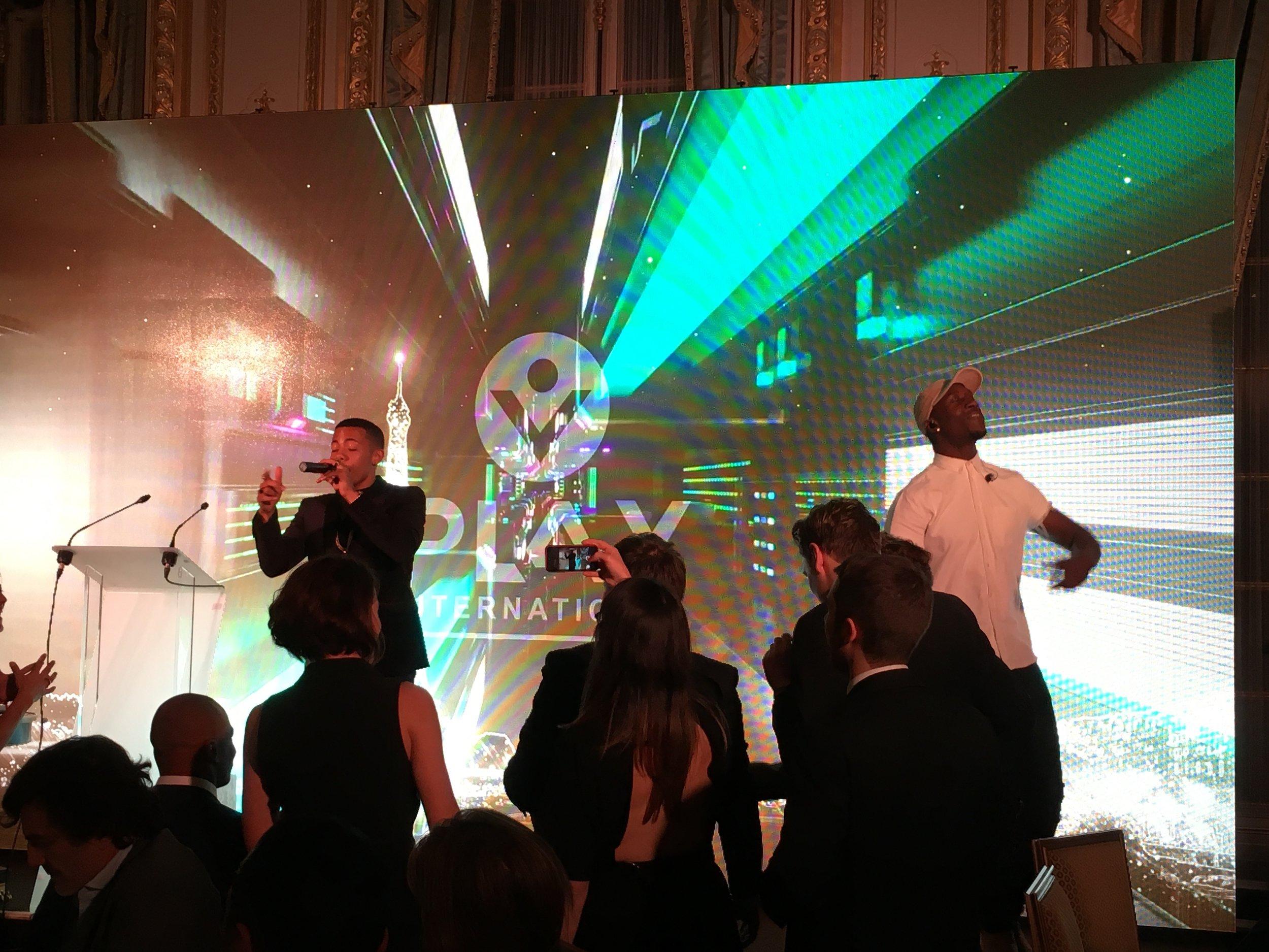 Nico & Vinz performing at PL4Y International Gala in Paris