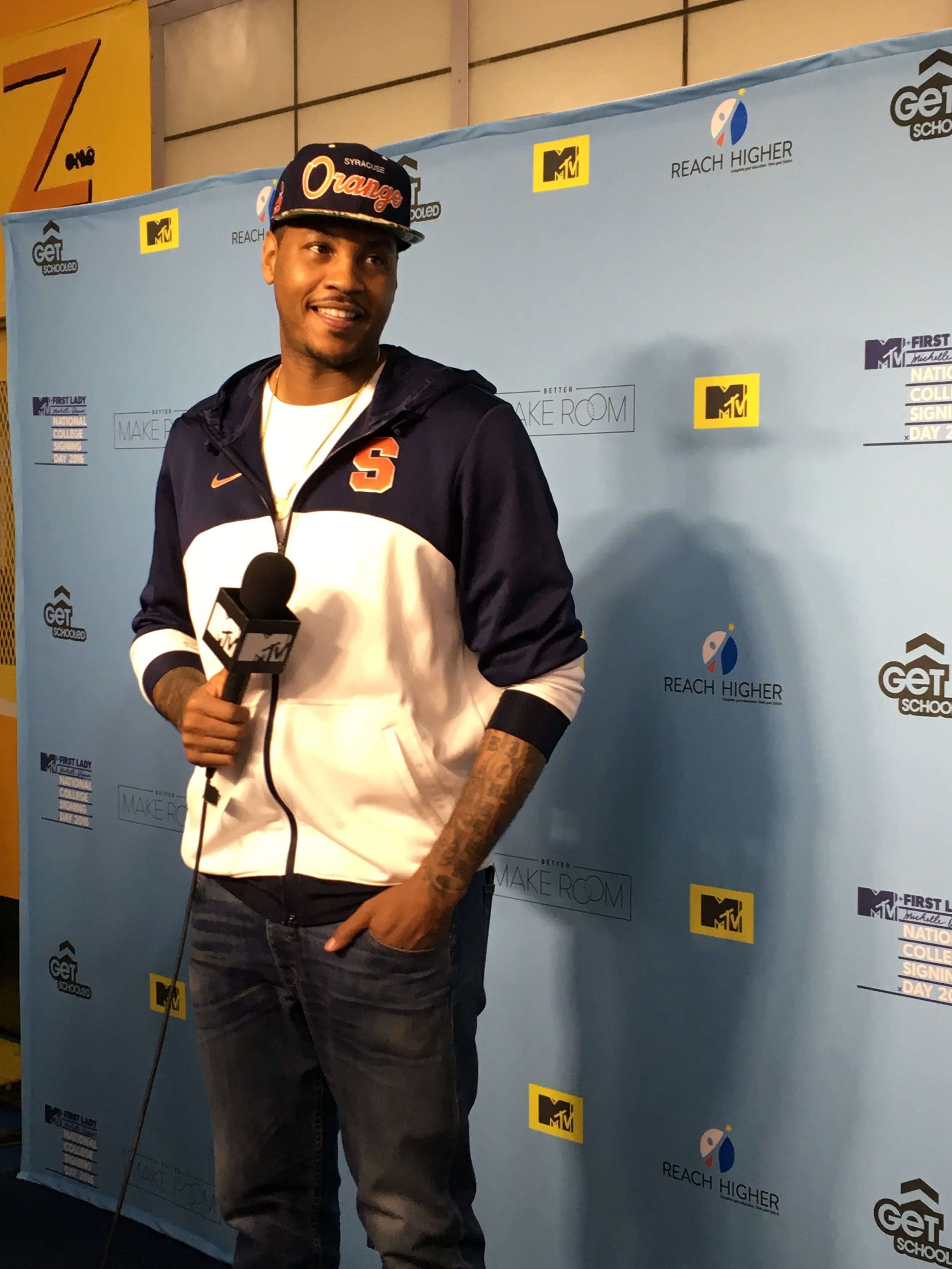 Carmelo Anthony at College Signing Day in Harlem