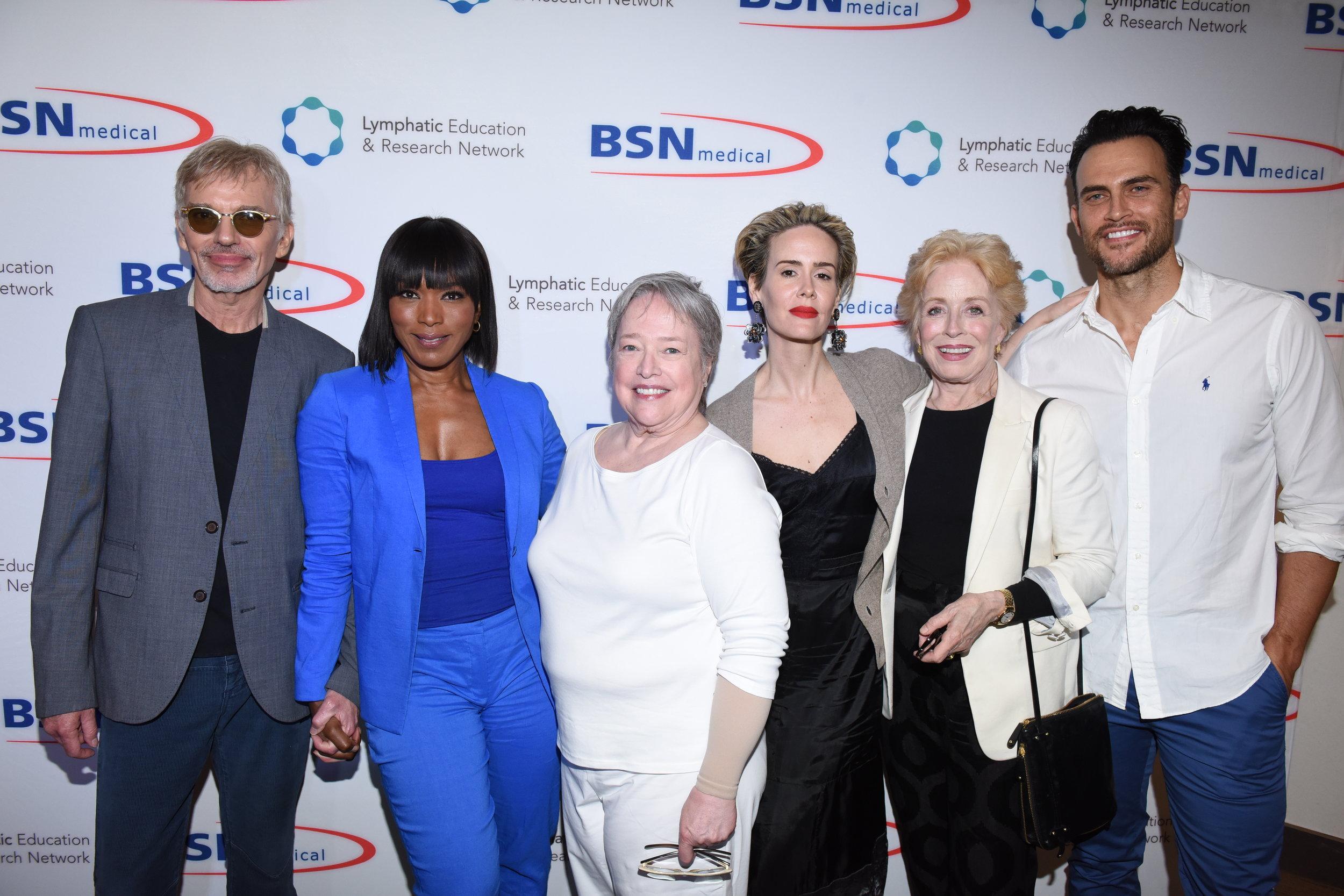 Billy Bob Thornton, Angela Bassett, Kathy Bates, Sarah Paulson, Holland Taylor & Cheyenne Jackson at LE&RN Benefit in Santa Monica, CA